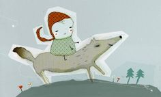 Run, run, Little Riding Hood, lot of fun
