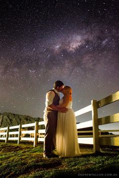 Romantic evening under the stars Mr and Mrs right for each other. #farmlife