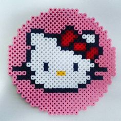 Hello Kitty perler beads by eltallerdekurisu