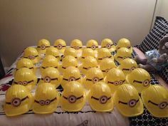 Minion party Can get yellow hard hats at Dollar Store Luau Birthday, Minion Birthday, 3rd Birthday Parties, Birthday Ideas, Despicable Me Party, Minion Party, Superhero Party, Betty Crocker, Kids Party Themes