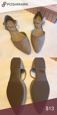 NUDE COLOR FLATS FAUX SUEDE FLATS. BRAND NEW IN BOX. Wild Diva Shoes Flats & Loafers