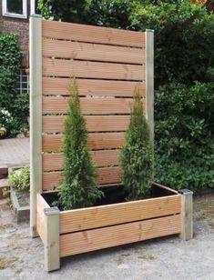 pflanzkasten als sichtschutz aus holz anthrazit grau sichtschutz mit pflanzkasten lang made. Black Bedroom Furniture Sets. Home Design Ideas