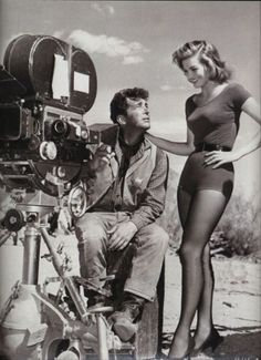 "simple dreams... : Photo Dean Martin and Angie Dickinson on the set of ""Rio Bravo"