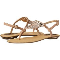 Luichiny Cheer Ish Women's Sandals, Beige ($56) ❤ liked on Polyvore featuring shoes, sandals, beige, jeweled shoes, luichiny, t strap sandals, luichiny shoes and t bar shoes