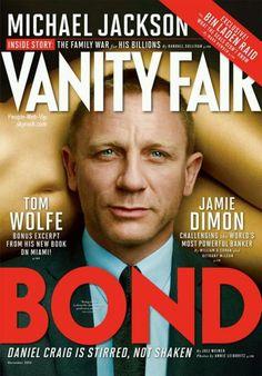 """Daniel Graig  En couverture du magazine """" Vanity Fair """" Spécial James Bond"""