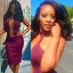 Malaysia Pargo Purple Cut Out Dress in Confessional Green Screen Interview Sexy Outfits, Sexy Dresses, Nice Dresses, Cute Outfits, Casual Dresses, Hip Hop Atlanta, Celebrity Style Inspiration, Glam Hair, Gorgeous Women