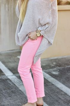 @lillypulitzer Harp Wrap & bright pink jeans
