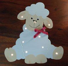 Schlummerlampen - Schlummerlampe Schaf Holz - ein Designerstück von TiNiShop bei DaWanda