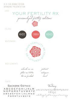 sweet + retro branding for Your Fertility Rx | b is for bonnie design  bisforbonniedesign.com