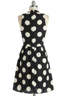 Spotted Downtown Dress, #ModCloth