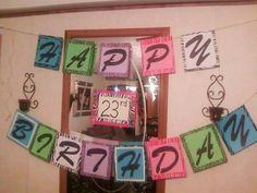 23rd birthday sign
