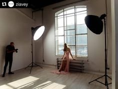 BTS by @ziavey   Behind the scenes fashion shooting . . . . . #onset #behindthescenes #studio #spring #dress #campaign #collection #model #window #womenfashion #bts #makingof #fashionphotography #famousbtsmag #iso1200