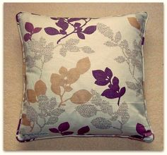 Cushion cover John Lewis Digital Garden linen with piped edge and zip fastening  £14.95