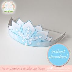 Free printable Frozen-esque crown