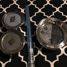 "New - Jordana makeup bundle New in Wrapper: Jordana eyeshadow single in ""Eyedolize"" Jordana eyeshadow single in "" Gunmetal"" Jordans eyeshadow dup in ""My Other Half"" Jordana glitter eyeliner in ""Blues Rock"" Jordana Makeup"