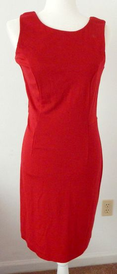 CHICOS travelers Little Red Dress SIZE 0 Sleeveless Stretch Bodycon Stretch Sexy #Chicos #KnitDress #LittleRedDress