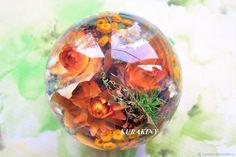 Купить Осенний подарок- пресс-папье Кленовые листья с цветами украшение дома в интернет магазине на Ярмарке Мастеров