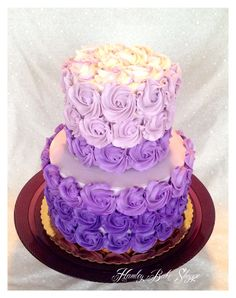 Ombre Purple Bridal Shower Cake