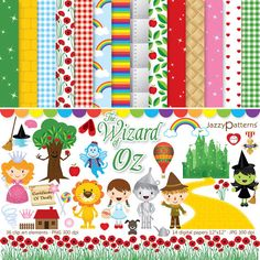 Hey, I found this really awesome Etsy listing at http://www.etsy.com/listing/154103190/wizard-of-oz-clipart-and-digital-paper