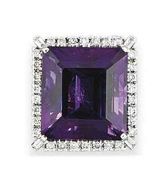 An amethyst & diamond ring