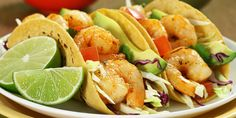 These seasoned shrimp tacos get spice and flavor from cumin and chili powder and are toped with lots of fresh veggies. Total Time: 18 min. Prep Time: 15 mi