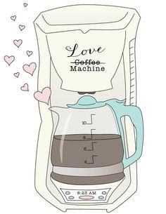 Coffee Love Machine Art Print #MrCoffee #Coffee #CoffeeLove