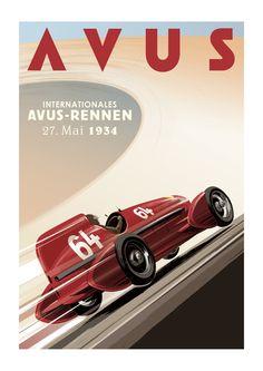 Guy Allen — Guy Moll / Avus-Rennen Poster