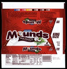 Hershey - Peter Paul Mounds - King Size - candy package wrapper - 2012 by JasonLiebig, via Flickr