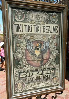 The Pineappleman's Tiki Blog: Tiki Tiki Tiki Realms (50th Anniversary Disney Art Gallery display)