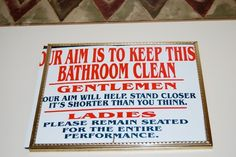 Funny picture / image - funny sign, bathroom, by mrapplegate