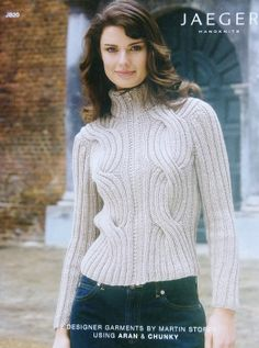 Knitting Pattern Book JAEGER HANDKNITS Sweaters JB20 Martin Storey 12 Designer Tops Zip Button Turtleneck