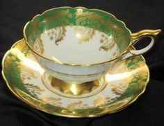Royal Stafford Gold Vines Green Tea cup and saucer