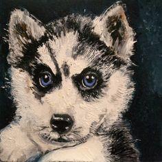 Siberian Huskey by Debra Bucci Fine Art