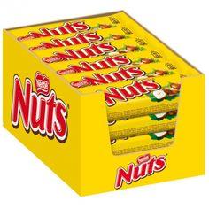 Barre de chocolat Nuts au nougat et noisettes
