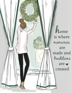 Wall Art for Women Home is Where Memories by RoseHillDesignStudio
