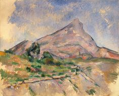 A Painting of Mont Sainte-Victoire by Paul Cézanne That Looks Unfinished