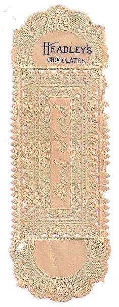 Headley's Chocolate bookmark - early 1900s