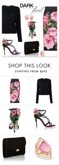 """Dark floral.."" by nihal-imsk-cam ❤ liked on Polyvore featuring Dolce&Gabbana, Mansur Gavriel, Stephen Webster, Gavello and darkfloras"