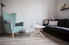 """WOMEB """"TRIPLE"""" coffee table with soild wooden legs + melamine top. Our favorite item with price for really everyone."""