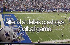 Any pro football game, but cowboys would be awesome:)