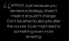 advice on strategy from the one and only, @dkny pr girl. #PR101