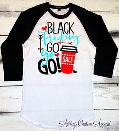 Black Friday Shirts Holiday Shopping Black by AshleysCustomApparel