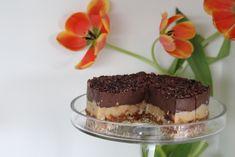 Chocolate and caramel raw vegan cheezecake.