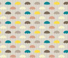 umbrellas fabric by mrshervi on Spoonflower - custom fabric