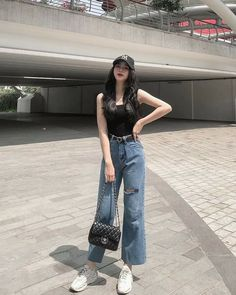 Korean Casual Outfits, Korean Outfit Street Styles, Girly Outfits, Cute Casual Outfits, Simple Outfits, Pretty Outfits, Beautiful Outfits, Korean Girl Fashion, Korean Fashion Trends