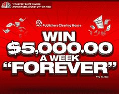5000 week for life www.pch.com   $5,000 A Week For Life Sweepstakes August 29th, 2013