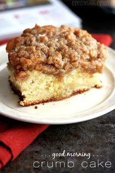 Good Morning Crumb Cake
