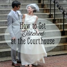 Courthouse wedding might not be that fairytale wedding you imaged as a little girl, but it can make for an intimate and personal one, especially when you've got limited budget. Couples get married at the courthouse (o. Wedding Tips, Trendy Wedding, Dream Wedding, Wedding Stuff, Wedding Happy, Wedding Planning, Wedding Beach, Wedding 2017, Whimsical Wedding