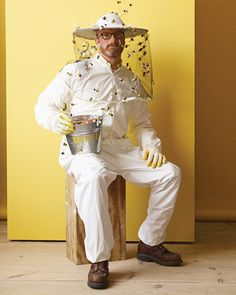 Bee KeeperA white outfit, mesh and plastic bees? Costume done. See it here at Martha Stewart