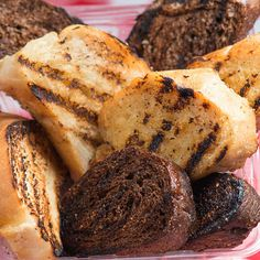 Mancini's Al Fresco* - Mancini's Classic Char-Grilled Garlic Toast    Thick sliced, fresh baked Italian bread dipped in garlic butter and char grilled.  Find it at Mancini's Al Fresco located on Carnes Ave., near Nelson St.  *New Food Vendor for 2013